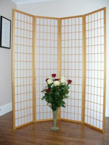 Natural Shoji Oriental Screen