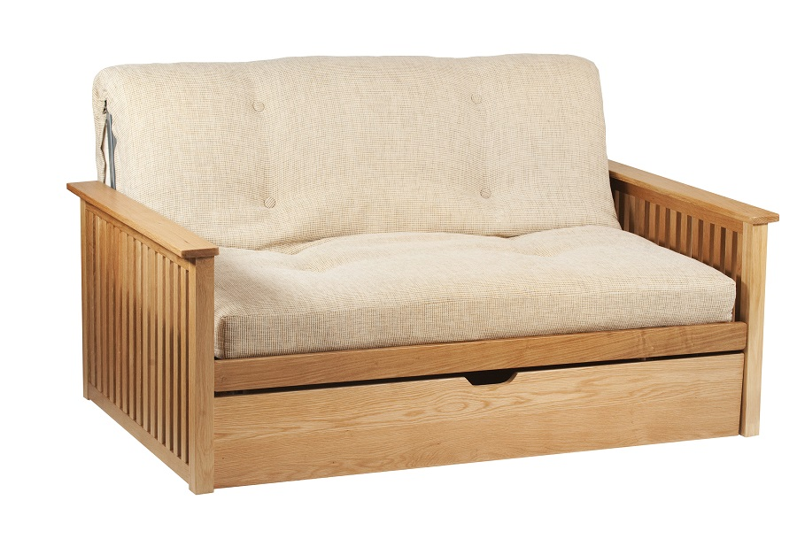 Pangkor 2 Seat Futon Sofa Bed in Oak