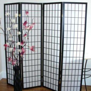 Black Shoji Oriental Screen
