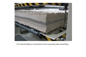 FutoLatex mattress - handmade in Devon.