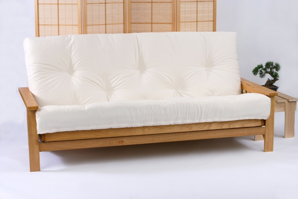 Iowa 3 Seater Oak Futon Bed