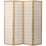 Natural Shoji 4 Oriental Screen