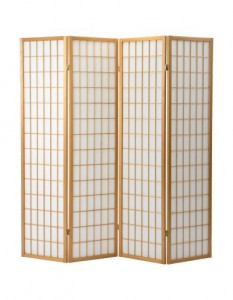 Natural Shoji 4 Oriental Screen