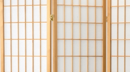Orinetal Screen - Natural Shoji Detail