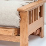 Iowa Oak 2 seater Futon Sofabed