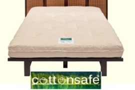 Cotton Safe Natural Futon Mattress - Traditional Wool - Firm