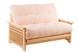 The Akino 2 Seat Futon Sofa Bed with Oak timber frame
