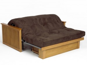 The Pangkor Futon converts easily from a two seat sofa to a bed.