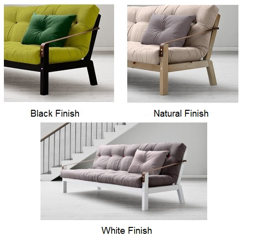 ... Choose Your Frame Finish On The Poetry Futon Sofa Bed.