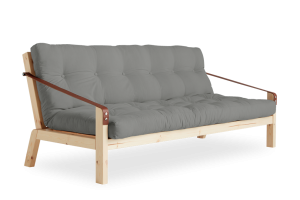Poetry Futon in Grey fabric