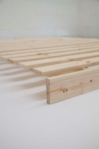 The Seto Futon Bed - close up of pine timber