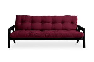 Metro futon with black frame