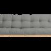 Metro futon in grey fabric choice