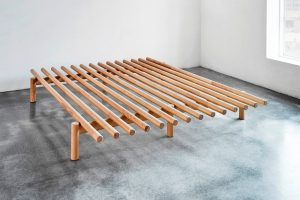 The Pace Bed frame in natural finish